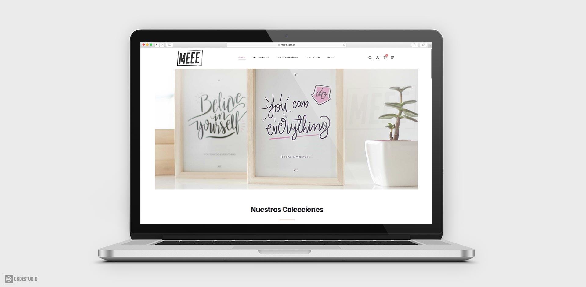 pagina web, tienda online, ecommerce, mercadopago, para meee cuadros decorativos by okd estudio