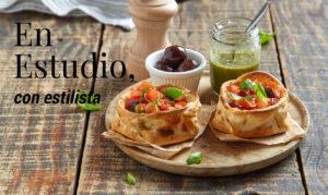 fotografía en estudio con estilista gastronómico